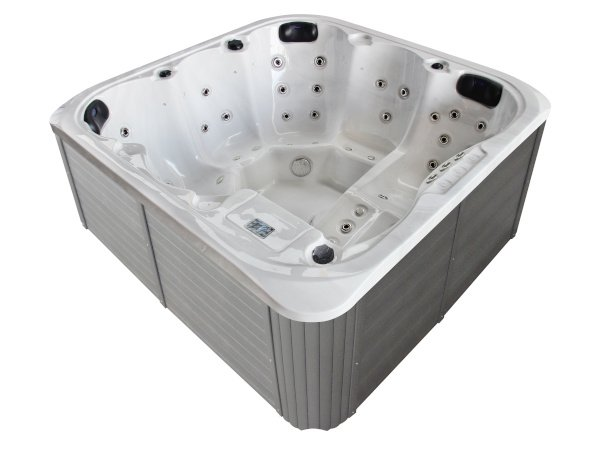 Jacuzzi-TubHub-5813B-Silver-White-Marble
