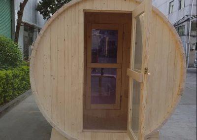 Wood-Burning-Barrel-Sauna-TubHub-Entrance