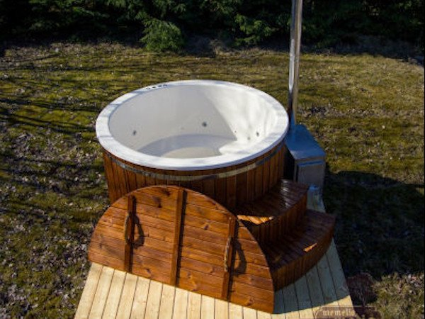 hot tubs ireland - woodburning tub