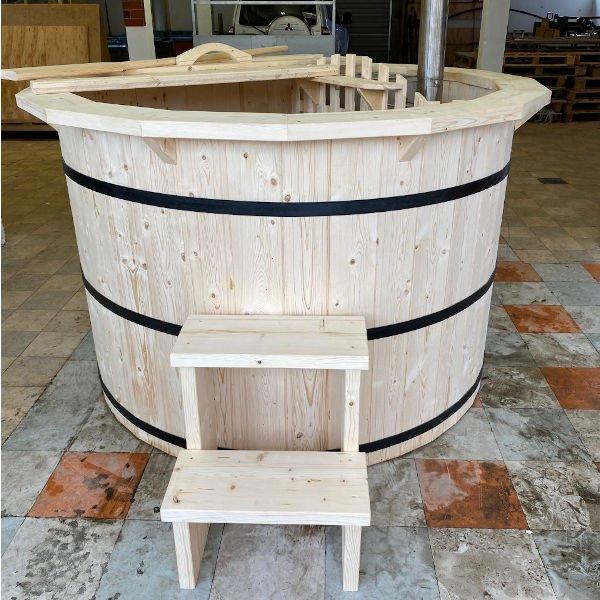 Tub Hub Internal woodburning Hottub